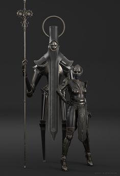 Rory Björkman on Behance Dark Fantasy Art, Fantasy Rpg, Dark Art, Medieval Fantasy, Fantasy Artwork, Fantasy Character Design, Character Art, Armor Concept, Concept Art