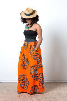 The Classic Maxi ~African fashion, Ankara, kitenge, African women dresses, African prints, Braids, Nigerian wedding, Ghanaian fashion, African wedding ~DKK