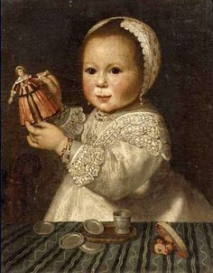 Doll Painting, Painting Of Girl, Old Dolls, Antique Dolls, Renaissance, Old Portraits, Miniature Portraits, Dutch Painters, Art Abstrait