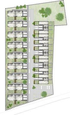 Social Housing Architecture, Concept Architecture, Architecture Design, Sims House Design, Duplex House Design, Urban Design Plan, Home Design Plans, Best House Plans, Modern House Plans