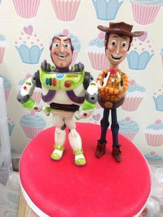 woody and buzz cake topper, cake, cake decorating, figure modelling, modelling chocolate