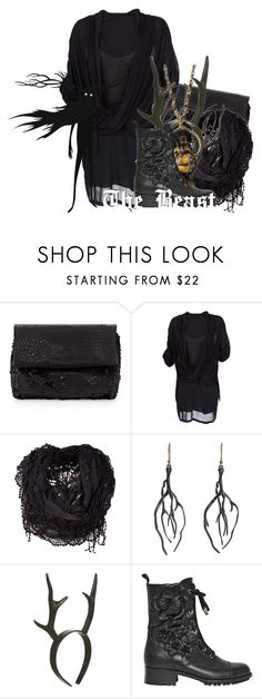 """""""The Beast from Over the Garden Wall"""" by magykgirlz ❤ liked on Polyvore featuring French Connection, Helmut Lang, Annette Ferdinandsen, Antler and Valentino"""