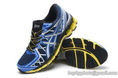 Top Layer Men's Asics GEL-KAYANO 20 Running Shoes Sneaker Blue White Yellow only US$95.00 - follow me to pick up couopons.