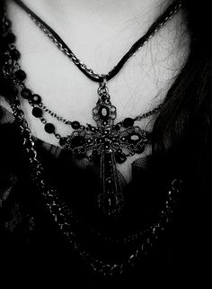 Wonderful gothic cross necklace.