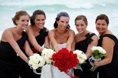 Bridesmaid Hairstyle / Bridal Party Hair / Beach Wedding / Cute Pose / Prom Hairstyle - chignon, curls & braids