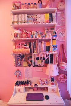 lavendertentacle: I wish my room were so cute and tidy ;A;