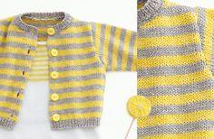 Opera Baby Cardigan free knitting pattern