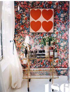 #floral #wallpaper #bathroom