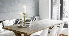 Interieur inspiratie uit Oslo. Voor meer wooninspiratie neem ook eens een kijkje op http://www.wonenonline.nl/ | Τραπεζαρία | Pinterest | White interiors, Dini…
