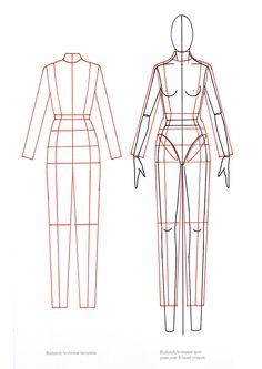 Woman's template From 9 Heads: A Guide to Drawing Fashion Nancy Riegelman