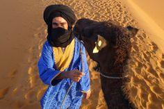 Smiling Tuareg camel driver near Merzouga on the Erg Chebbi dunes of the northern Sahara. Dune, Morocco, Camel, Photography, Photograph, Fotografie, Camels, Photoshoot, Fotografia