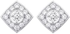 """""""Signature Duo"""" earrings in18K white gold set with82 brilliant-cut diamonds. """"Signature de  Chanel"""" Collection"""