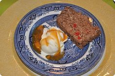 April Fools Dinner   Ice cream potatoes with caramel gravy   And chocolate rice krispie meatloaf