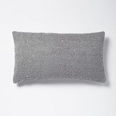 Boucle Sequin Pillow Cover - Feather Gray/Silver #westelm