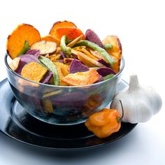 6. #Baked Veggie #Chips - 8 Mouth-watering #Paleo Snack #Recipes ... → #Weightloss #Apartmenttherapy