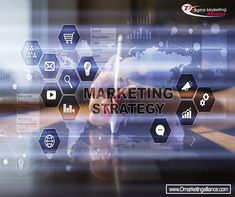 Marketing strategy concept on virtual screen. Internet, advertising and digital technology concept. Digital Technology, Photography Tutorials, Royalty Free Photos, Digital Marketing, Photo Editing, Internet Advertising, About Me Blog, Social Media, Concept