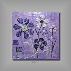 Acrylmalerei - Acrylbild Happy Flowers 3D #033 - ein Designerstück von SoMa-Art bei DaWanda