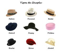 Womens Hat Style Names Different types of hats caps  fe52df8279bb