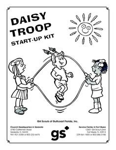 Daisy Girl Scout Coloring Pages  Daisy Girl Scout Coloring Page