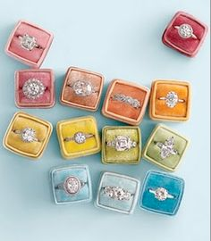 From Martha Stewart Weddings, the boxes make these gems look like candy...beautiful and desirable candy.