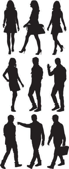 Vectores libres de derechos: Multiple image of man and woman…