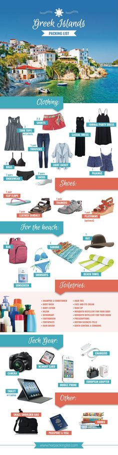What to pack for a trip to the Greek Islands. #hplworld