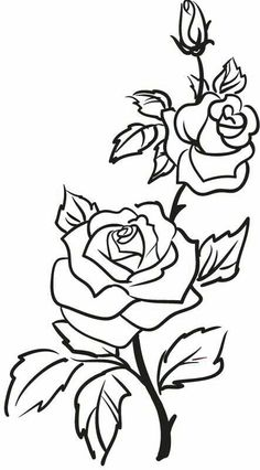 Details about Two Roses Outline Rose Flowers Wall Stickers Wall Art Decal Trans. - Details about Two Roses Outline Rose Flowers Wall Stickers Wall Art Decal Transfers - Rose Outline Tattoo, Rose Outline Drawing, Rose Drawing Simple, Flower Drawings, Outline Drawings, Rose Bud Tattoo, Pencil Drawings, Rose Drawing Tattoo, Simple Rose Tattoo