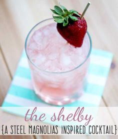 The Shelby cocktail - made with strawberry vodka