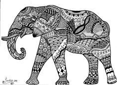 Doodling with intent I really enjoyed doing this elephant.