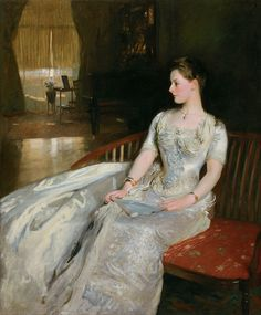 John Singer Sargent, American (1856-1925). Mrs. Cecil Wade, 1886. Oil on canvas, 66 x 54 1/4 inches.The Nelson-Atkins Museum of Art