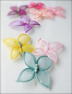 Hair butterfliesbutterfly hair clipwedding by RedPepperHats