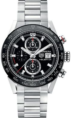 Tag Heuer CAR201Z.BA0714 Carrera stainless steel watch #Tagheuer