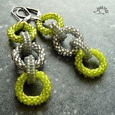 Jablečné kroužky Náušnice  - earrings