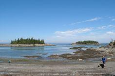 La grève à marée basse au parc national du Bic Bas Saint Laurent, Parc National, Mountains, Beach, Water, Outdoor, Bass, The Beach, Gripe Water