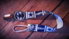 Dallas Cowboys pacifier clip by Creative Creations
