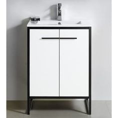 Shop for Vdara White Bathroom Vanity Cabinet Set. Get free delivery at Overstock - Your Online Furniture Outlet Store! Get in rewards with Club O! Bathroom Vanity Makeover, White Vanity Bathroom, Best Bathroom Vanities, Bathroom Vanity Cabinets, Bathroom Furniture, Small Bathroom, Bathroom Ideas, Single Vanities, Bathroom Drawers