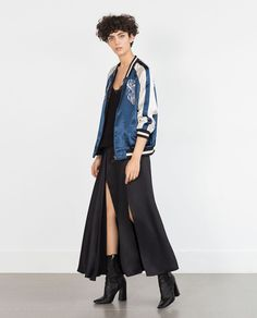Image 1 of EMBROIDERED STUDIO BOMBER JACKET from Zara