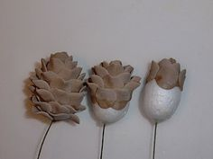 Pine cones...this technique could be used to make cake pops or just to sit on top of a cake.