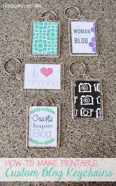 How to make printable personalized keychains at thebensonstreet.com #keychains #diy