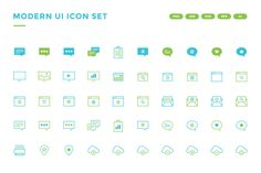 40% OFF - Modern UI Icon Set  by scarletish on @creativemarket