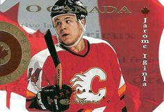 Jarome Iginla hockey cards for sale at discount prices. Ice Hockey Teams, Hockey Players, Hockey Cards, National Hockey League, Calgary, Athletes, Nhl, Captain America, Superhero