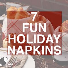 How to fold: 7 Fun Holiday Napkins. It's all about swapping out disposable paper napkins with Diy Home Crafts, Holiday Crafts, Holiday Fun, Ostern Party, Host A Party, Holidays And Events, Catering, Food And Drink, Cooking