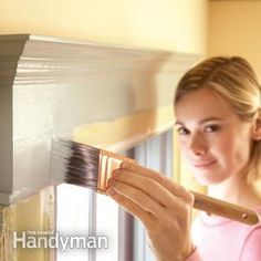 Trim Painting Tips ~ Make your walls look perfect, your trim flawlessly smooth and your life drip-free. How to repaint chipped, flaking or dirty moldings so they look like new; the secrets of a professional-looking job.