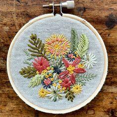 Beautiful flower hoop embroidery by amandafarquharson