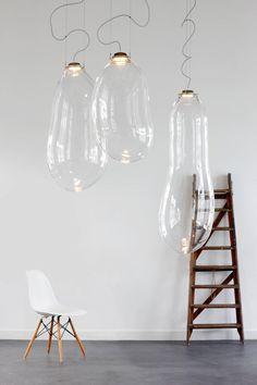 Dutch Big Bubble Pendants, Alex de Witte For Sale