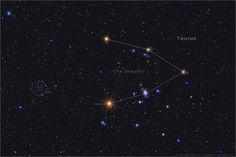 Hyades for the Holidays   Image Credit & Copyright: Jerry Lodriguss (Catching the Light)  Explanation: Recognized since antiquity and depicted on the shield of Achilles according to Homer, stars of the Hyades cluster form the head of the constellation Taurus the Bull. Their general V-shape is anchored by Aldebaran, the eye of the Bull and by far the constellation's brightest star.