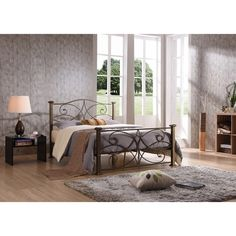 Hodedah Multicolor Iron/Metal Panel Bed | Overstock.com Shopping - The Best Deals on Beds