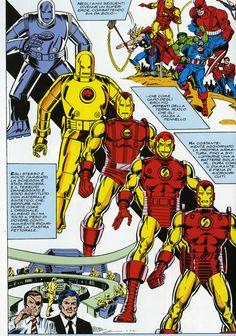 Evoluzione #armature #IronMan in #mostra in #fiera