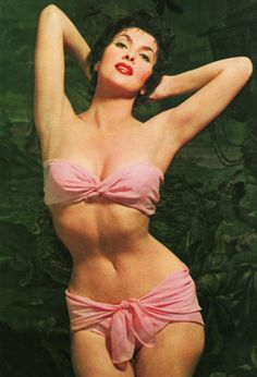 Gina Lollobrigida's daring 1950s bikini! (b. 1927 Jul4, 86 in 2012)  Italian actress, photojournalist and sculptor +  iconic sex symbol but with brains & character • Wiki: http://en.wikipedia.org/wiki/Gina_Lollobrigida