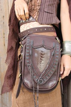 UNISEX Leather holster leather utility belt festival by Soulindha